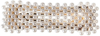 Gregory Ladner Rectangular Pearl Snap Clip Hair Accessory