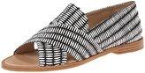 Loeffler Randall Women's Hannele Raffia Open Slip-On Loafer