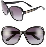 Jimmy Choo Women's 'Patty' 61Mm Oversized Sunglasses - Shiny Black