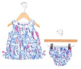 Lilly Pulitzer Girls' Printed Bloomers Set w/ Tags