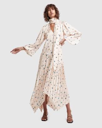 Aje Overture Pleat Midi Dress