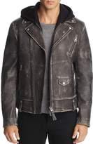 Mackage Magnus Hooded Leather Motorcycle Jacket