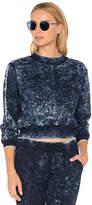 Cotton Citizen The Milan Cropped Sweatshirt in Navy. - size L (also in M,S)
