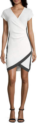 Almost Famous Juniors Short Sleeve Bodycon Dress