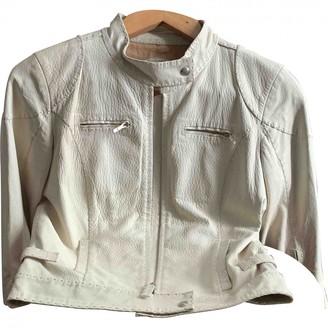 Fendi Beige Leather Coat for Women Vintage