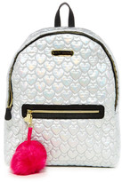 Betsey Johnson Heart Quilted Nylon Backpack