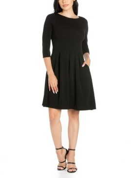24seven Comfort Apparel Women's Perfect Fit and Flare Pocket Dress