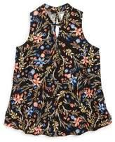 O'Neill Girl's Indo Floral Print Woven Top