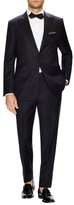 Hickey Freeman Solid Super 120s Satin Trim Peak Tuxedo