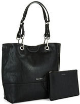 Calvin Klein Reversible Faux Leather Tote