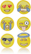 Kim Seybert Emoji Coaster Set-YELLOW