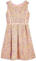 Us Angels Girls' Tweed Fit & Flare Dress