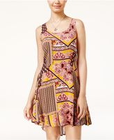Be Bop Juniors' Printed High-Low Fit and Flare Dress