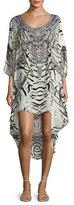 Camilla Embellished Scoop-Back Coverup Dress