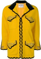 Chanel Pre Owned 1980's embroidered details jacket