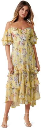 Forever New Seraphina Ruffle Midi Dress
