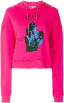 McQ death metal print hoodie