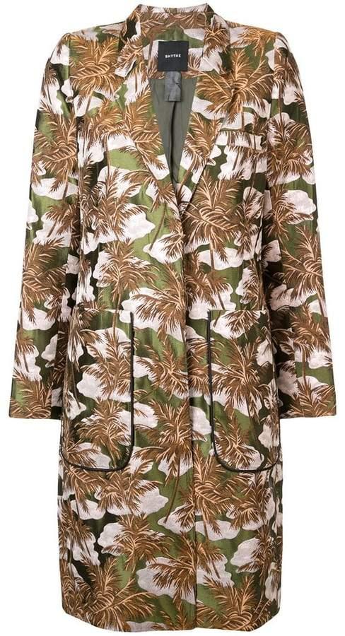 Smythe foliage jacquard coat
