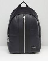 Diesel Leather Backpack In Black