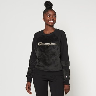 Champion Fur Crew Sweatshirt - Black / Gold