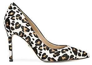 Sam Edelman Women's Hazel Leopard-Print Calf Hair Leather Pumps