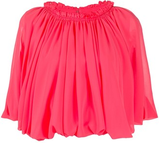 Comme des Garcons Short-Sleeved Pleated Top