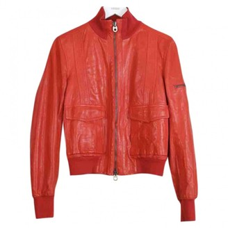 Bally Red Leather Jacket for Women