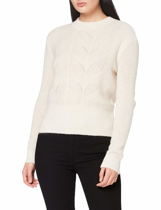 Scotch & Soda Women's Fuzzy Knit with Cable Stitches Sweater