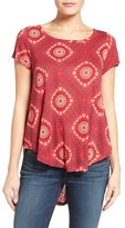 Lucky Brand Tile Print High/Low Tee
