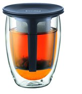Bodum Tea for One Glass with Tea Infuser - 0.35 L, Black Infuser