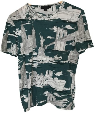 Burberry Turquoise Cotton T-shirts