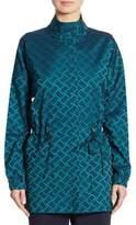 St. John Funnel Neck Tile Jacket