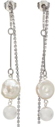 Mounser Silver White Cap Earrings