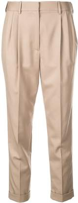 Nili Lotan pleated cropped trousers