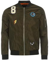 Fabric Lightweight Badged Bomber Jacket Mens