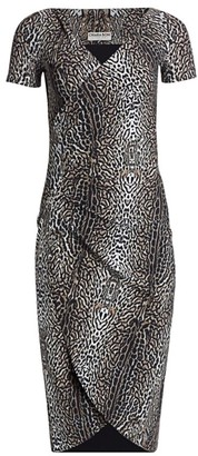 Chiara Boni Leopard Print Ruched Dress