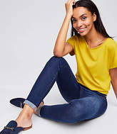 LOFT Modern Skinny Crop Jeans in Rich Dark Indigo Wash