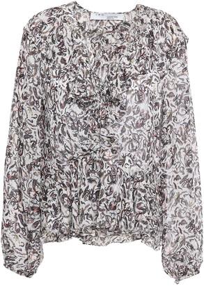 IRO Voodoo Ruffled Printed Georgette Blouse