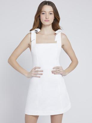 Alice + Olivia Maryann Tie Shoulder Mini Dress