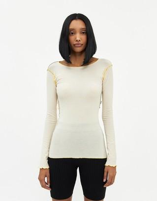 Base Range Women's Shiva Long Sleeve T-Shirt in Off White, Size Extra Small