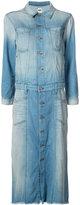 NSF stonewashed denim shirt dress