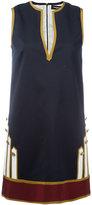 DSQUARED2 open neck shift dress - women - Wool/Spandex/Elastane/Polyester/Viscose - 42