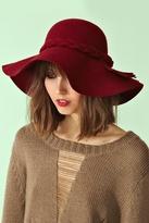 Nasty Gal Braided Wool Hat - Wine