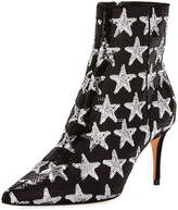Schutz Star Sequined Point-Toe Boot, Silver