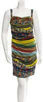 Dolce & Gabbana Printed Ruched Dress