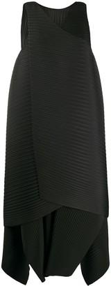 Issey Miyake Ribbed Asymmetric Dress
