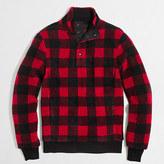 J.Crew Factory Buffalo plaid upstate fleece pullover
