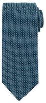 Eton Neat Basketweave Silk Tie, Teal