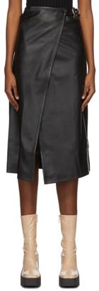 Simon Miller Black Faux-Leather Vega Mid-Length Skirt