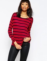 French Connection Mix It Up Stripe Long Sleeve Top